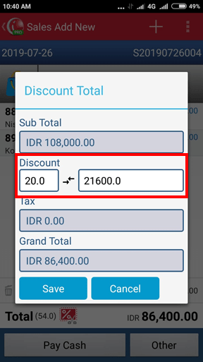 Input the Document Discount in iREAP POS Pro