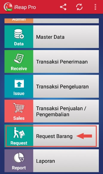 Make Stock Request Transaction step 2 - Go to Stock Request Module