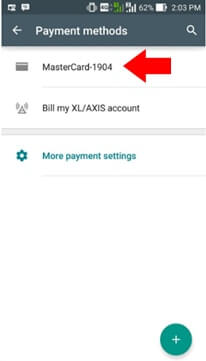 Your Credit Card is Registered on Playstore Account