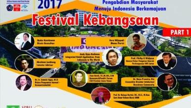 Festival Kebangsaan 2017 - Festival Produk Inovasi - Hirilisasi Hasil Riset dan Pengapdian Masyarakat Menuju Indonesia Berkemajuan