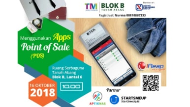 iREAP POS Event di Tanah Abang - Menggunakan Apps Point of Sale (POS) by TM Agung Podomoro Group