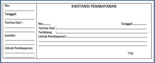 Sample Payment Receipt form