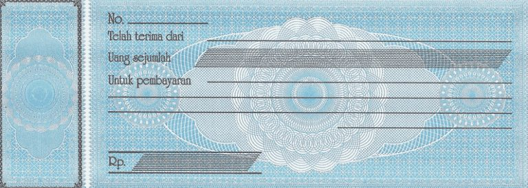 format sample payment receipt - indonesian