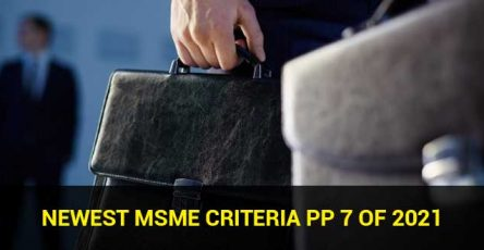 Newest MSME Criteria PP 7 of 2021