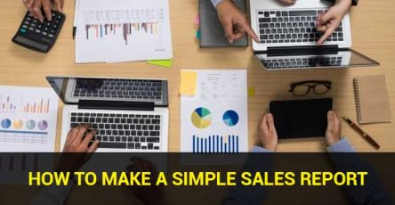 how to make a simple sales report