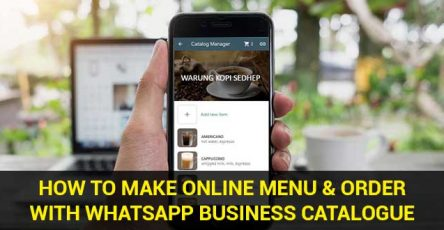 how to make online menu with whatsapp business catalogue