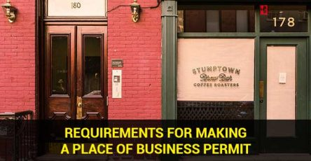 Requirements for making a place of business permit