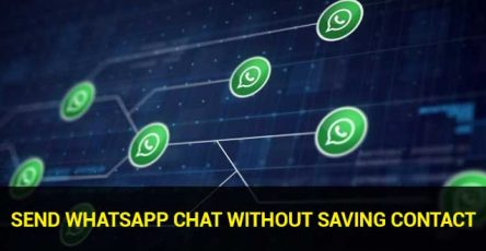 send whatsapp chat without saving contact